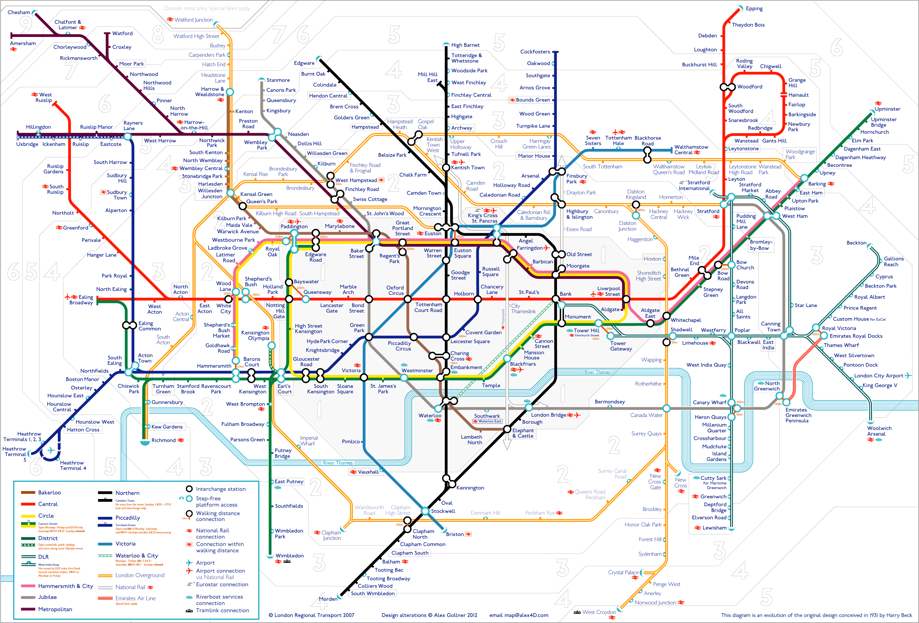 Tube map | alex4D old blog London Subway System Map on