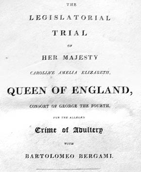 Queen Caroline's trial - book title page