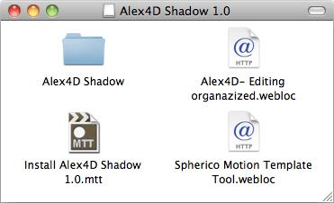 Free Final Cut Pro plug-in: Alex4D Shadow effect | alex4D