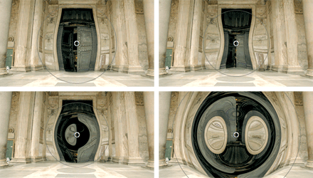 Warping effect on a door from Alex4d's FREE distortion effect