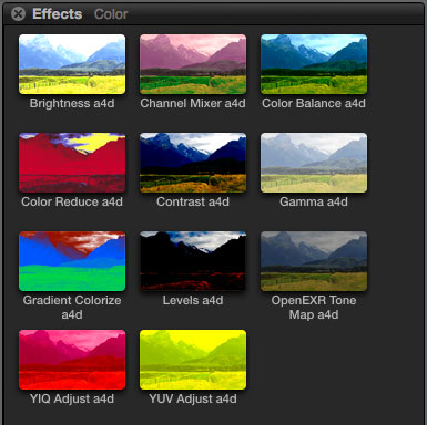 Free Final Cut Pro plugins: 11 colour effects | alex4D old blog