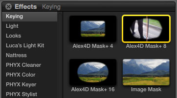 Free Final Cut Pro plugins: Alex4D Mask+ effects | alex4D