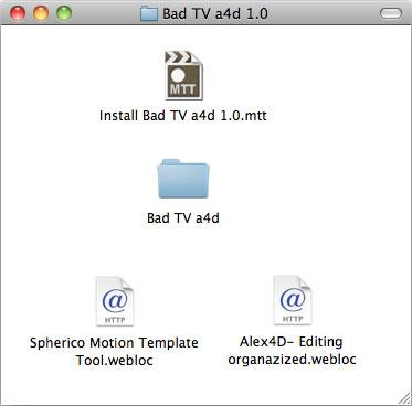 Free Final Cut Pro plugin: Bad TV a4d effect | alex4D old blog