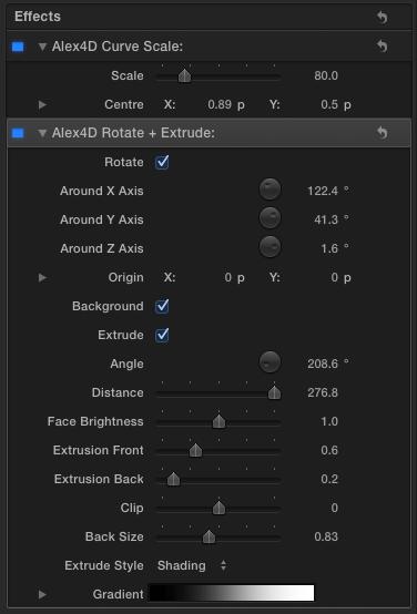 Free final cut pro plugin alex 4d rotate extrude effect alex4d for ccuart Gallery