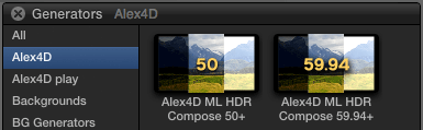 The Plus versions of the generators in the Final Cut Pro X generators browser.