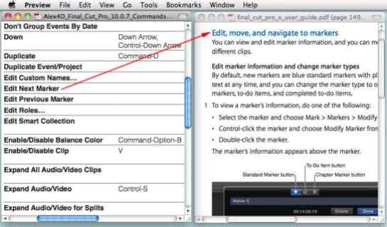 FCPX Free Keyboard shortcut cheat sheet