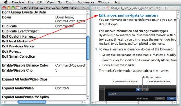 423 Final Cut Pro 10 0 7 commands | alex4D old blog