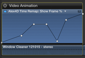 Add keyframes to time remap graph