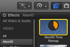 Alex4D Time Remap effect in Final Cut Pro effects browser