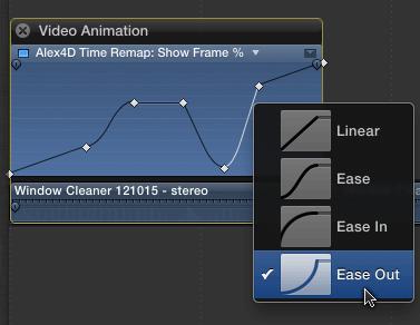 Control-click to set curve shapes