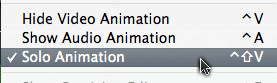 Choose Solo Animation from Clip menu