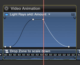The length of the light rays can be animated using a animation graph